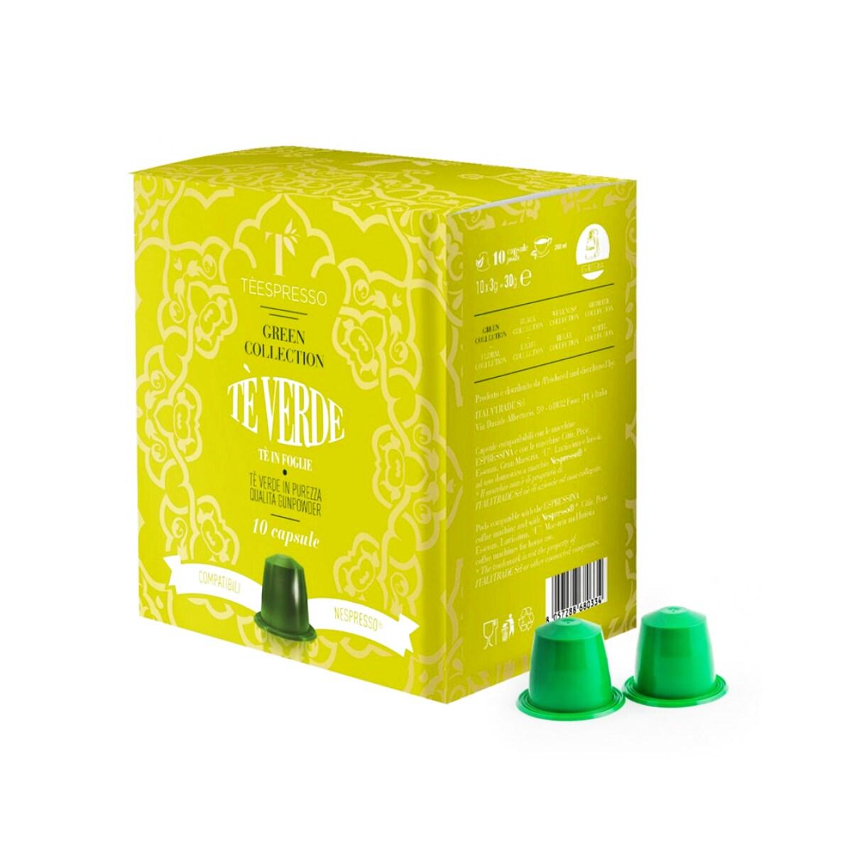 Teespresso Te Verde κάψουλες τσάι για Nespresso καφεμηχανή 10τεμ