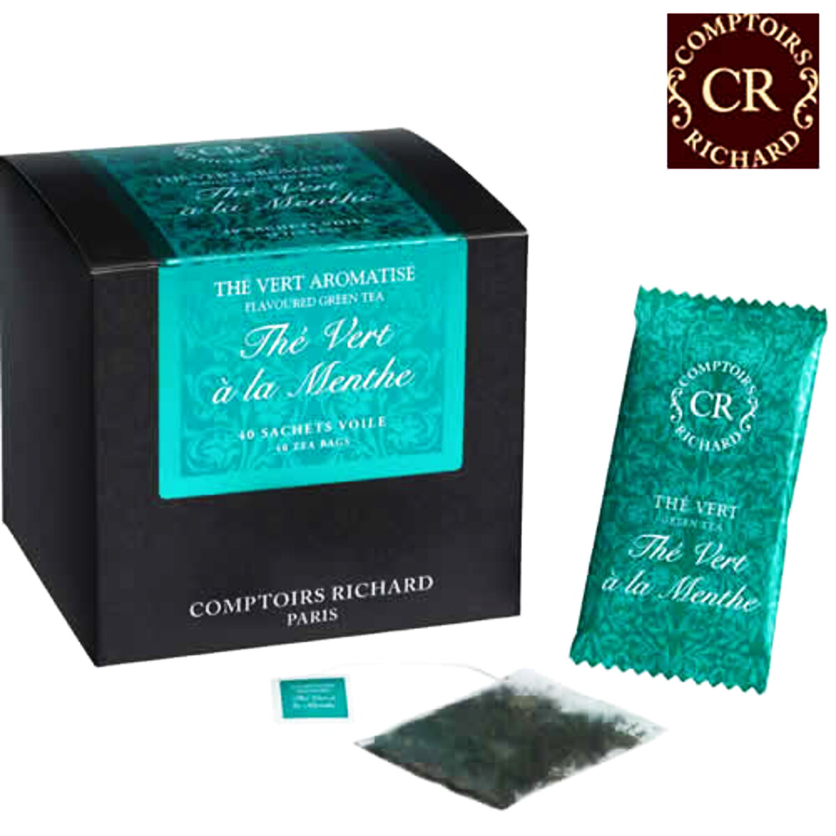 Comptoirs Richard Thé Vert à la Menthe -40 τεμάχια φακελάκια πράσινο τσάι μέντας